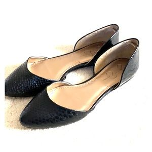 Jessica Simpson Mixed Leather D'Orsay Flats